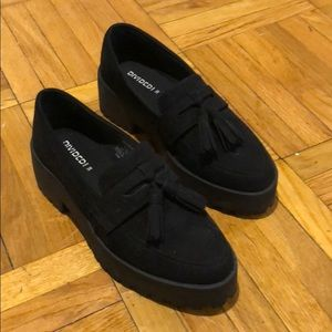 H&M brogue platform loafer